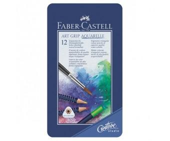 Akvarellpliiatsid Faber-Castell Art Grip Aquarelle - 12 värvi