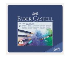 Akvarellpliiatsid Faber-Castell Art Grip Aquarelle - 24 värvi