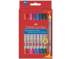 Viltpliiatsid Faber-Castell - kahe otsaga, 10 värvi