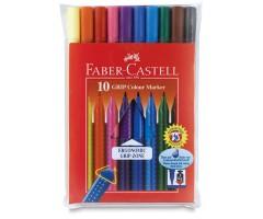 Viltpliiatsid Faber-Castell Grip - 10 värvi