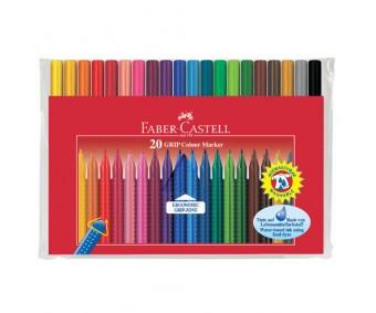 Viltpliiatsid Faber-Castell Grip - 20 värvi