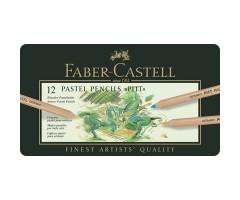 Pastellpliiatsid Pitt - 12 värvi - Faber-Castell