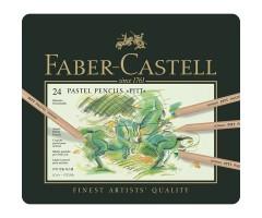 Pastellpliiatsid Faber-Castell Pitt - 24 värvi