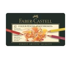 Värvipliiatsid Faber-Castell Polychromos - 12 värvi