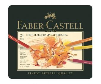 Värvipliiatsid Faber-Castell Polychromos - 24 värvi