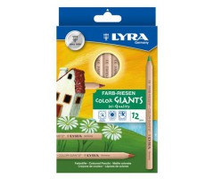 Värvipliiatsid Lyra Color Giants - 12 värvi