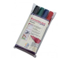 Portselanimarkerite komplekt Nerchau - Classic, 4 värvi