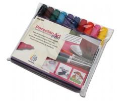 Portselanimarkerite komplekt Nerchau - 10 värvi
