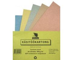 Räpina kartong A4, 20 lehte - pastelsed värvid