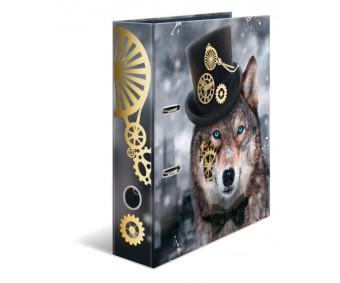 Registraator Herma A4, 7cm - Steampunk Wolf
