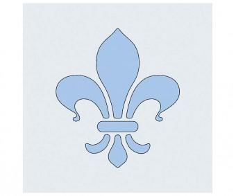 Šabloon 98x110mm - Fleur de Lis
