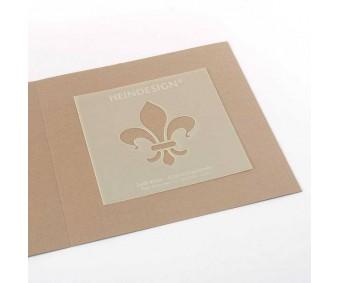 Šabloon 53x62mm - Fleur de Lis