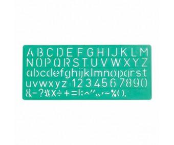 Šabloon Linex - tähed ja numbrid 10mm