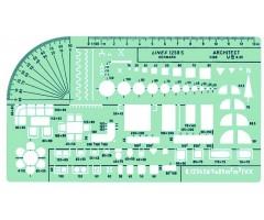 Šabloon Linex 1258 S - 1:100, arhitekti universaalne