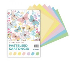 Värviline kartong, pastelltoonid, 200g/m², 7 lehte - A4