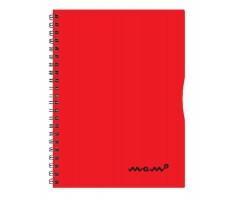 Spiraalkaustik Memo A4, 60 lehte - jooneline - punane