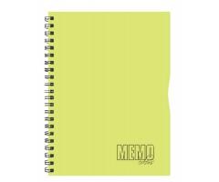 Spiraalkaustik Memo Colour, 80 lehte, A4 - jooneline - kollane
