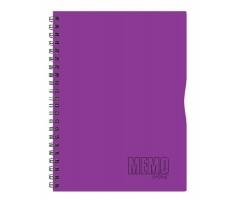 Spiraalkaustik Memo Colour, 80 lehte, A4 - jooneline - lilla