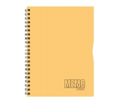 Spiraalkaustik Memo Colour, 80 lehte, A4 - jooneline - oranž