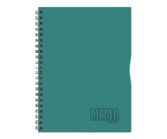 Spiraalkaustik Memo Colour, 80 lehte, A4 - jooneline - roheline