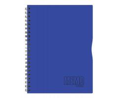 Spiraalkaustik Memo Colour, 80 lehte, A4 - jooneline - sinine