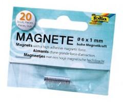 Magnetid Folia Ø 6mm x 1mm - 20 tk