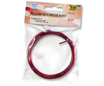 Alumiiniumtraat Folia 2mm x 5 m - punane