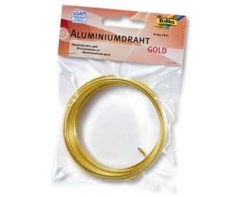 Alumiiniumtraat Folia 2mm x 5 m - kuldne