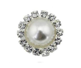Kaunistus pärli ja kivikestega - ring, 18mm