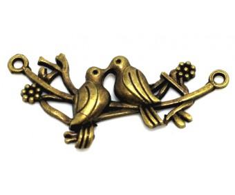 Filigraan linnud - pronks, 42x20mm