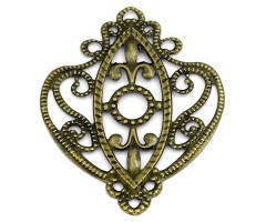 Filigraan ornament - pronks, 66x53mm