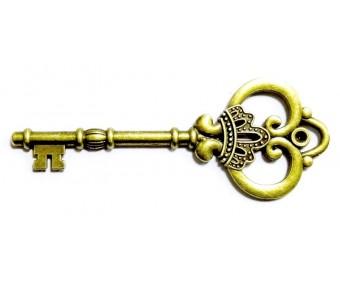 Metallist kaunistus - võti, 80x30mm