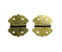 Hinged karbile 2tk - 28x31mm, pronks