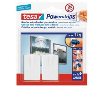 Riputuskonksud Tesa Powerstips, iseliimuvad - 2 tk