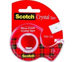 Kleeplint Scotch Crystal alusega - läbipaistev, 19mm x 7.5m
