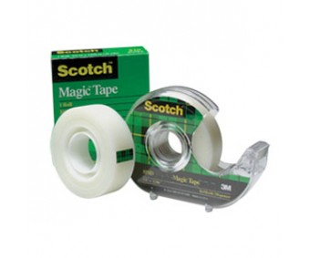 Kleeplint Scotch Magic alusega - läbipaistev, 19mm x 7.5m