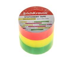 Neoonteip Erich Krause 12mm x 33m - 3 tk (roosa, kollane, roheline)