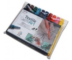 Tekstiilimarkerite komplekt Nerchau Textile Art - 10 värvi