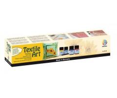 Tekstiilivärvide komplekt Nerchau Textile Art - 6 värvi