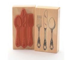 Kummitempel - nuga, kahvel, lusikas
