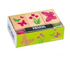 Kummitemplite komplekt Heyda - lilled ja liblikad
