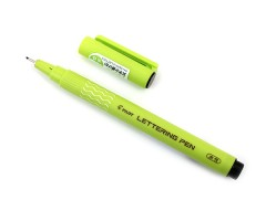 Kalligraafiline tindipliiats Pilot Lettering Pen - 1.0mm, must
