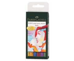 Pintsel-pliiatsite komplekt Faber-Castell Pitt - Basic, 6 tk