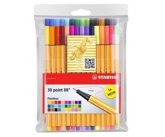 Tindipliiatsid Stabilo Point 88 - 30 värvi