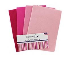 Käsitöövilt Dovecraft A4, 8 lehte - roosad toonid