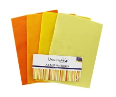 Käsitöövilt Dovecraft A4, 8 lehte - kollased toonid