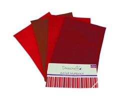 Käsitöövilt Dovecraft A4, 8 lehte - punased toonid
