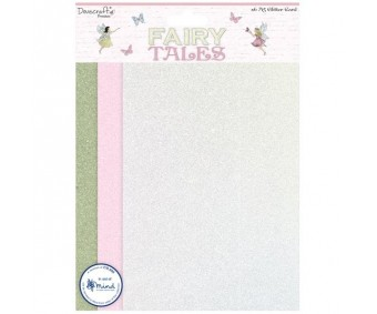 Glitter-kartong A5, 6 lehte - Fairy Tales