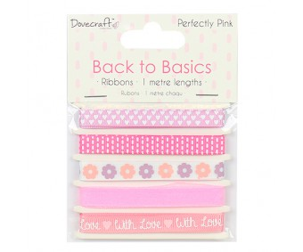 Paelte komplekt Back to Basics 5 x 1m - Perfectly Pink