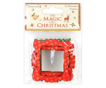Puidust raamid Dovecraft - The Magic of Christmas, 12 tk